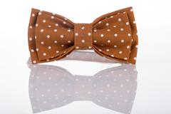 Brown bow tie on a white background - stock photo