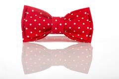 Red bow tie on a white background Stock Photos