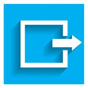 Exit log out sign - stock illustration