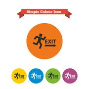 Exit sign - stock illustration