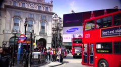 ULTRA HD 4K real time shot,Piccadilly Circus  in London U.K. Stock Footage