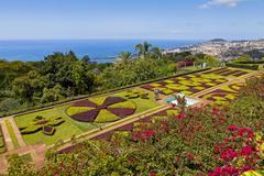 Tropical Botanical Garden in Funchal, Madeira island, Portugal Stock Photos