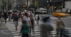 New York City Pedestrians Rushing in the Rain Timelapse - stock footage