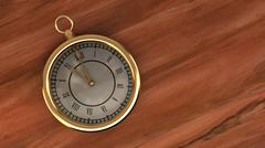 Stock Illustration of Clock gold old antique pocket watch time dial