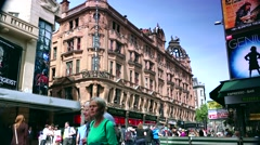 ULTRA HD 4K real time shot,Leicester Square Theatreland in London Stock Footage