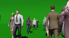 People walking in-uot green screen Arkistovideo