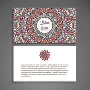 Business card vector background Stock Illustration