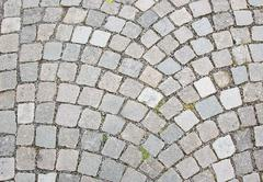 Cobble stone road surface texture - stock photo