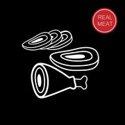 real meat - stock illustration