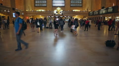 Grand Central Terminal Main Concourse Stock Footage