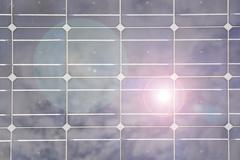 Solar panel closeup pattern - stock photo