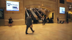 Grand Central Terminal Passengers Stock Footage