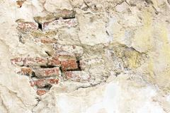 Finishing wall material in old architecture Stock Photos