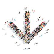 People in the form of arrows - stock illustration