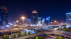 Time lapse--panorama of Beijing Stock Footage