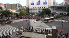 Time lapse - Shibuya pedestrian crossing also known as Shibuya scramble Arkistovideo