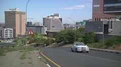 Street with cars on windhoek city Stock Footage