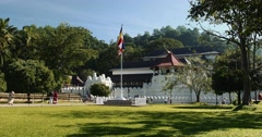 The Temple Of Tooth In Kandy, Sri Lanka Stock Footage