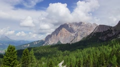 Landcape in Italian Alps, Dolomites, #2 - stock footage