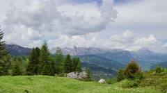Landcape in Italian Alps, Dolomites, #3 Stock Footage