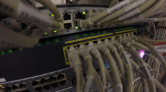 Network Switch LAN Stock Footage