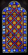 Stock Photo of French Monarchy Symbols Stained Glass Sainte Chapelle Paris France