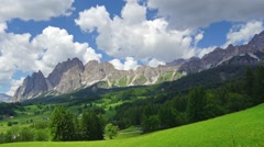 Landscape view near Cortina d' Ampezzo town, Italy Stock Footage