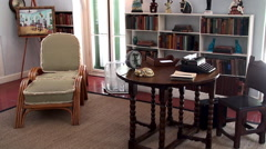 Study room of Ernest Hemingway at the Key West House. Stock Footage