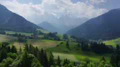 Typical landscape in South Tirol - stock footage