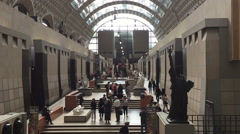 Musee Orsay interior Stock Footage