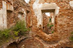 fortress ruins - stock photo
