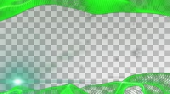 Frame  Motion Graphic Elements green. graphic wave. the shape are particles. alp - stock footage