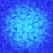 Abstract Triangle Geometrical blue tones Background Stock Illustration