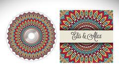 CD cover design template - stock illustration