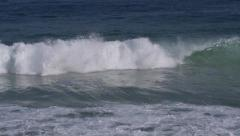 Waves Breaking in the Ocean, Smooth Slow Motion Stock Footage