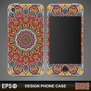 Phone case design - stock illustration