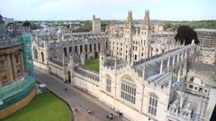 All Souls College. Oxford, England - stock footage