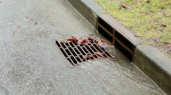 Curb Side Storm Drain Stock Footage