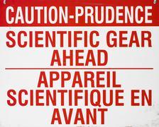 Scientific Caution Sign Stock Photos