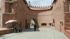 Warsaw, Poland. The old town - barbican Stock Footage