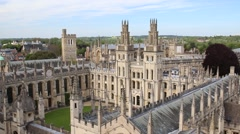 All Souls College. Oxford, England Stock Footage