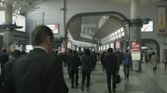 Japan Train Station Bustle - stock footage
