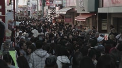 A jam packed Takeshita Street Stock Footage