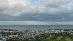 4k Hua Hin city Thailand time lapse - stock footage