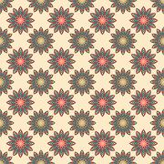 Stock Illustration of Ethnic floral seamless pattern
