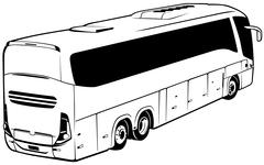 Stock Illustration of Long-distance Bus