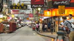 American tourists take photographs in Hong Kong 4K Stock Footage