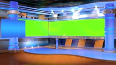 TV Studio With Green screen n.1 - stock footage