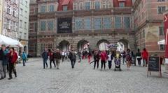 Long market in Gdansk, Poland 2 Stock Footage