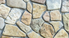 Old stone blocks Stock Footage
